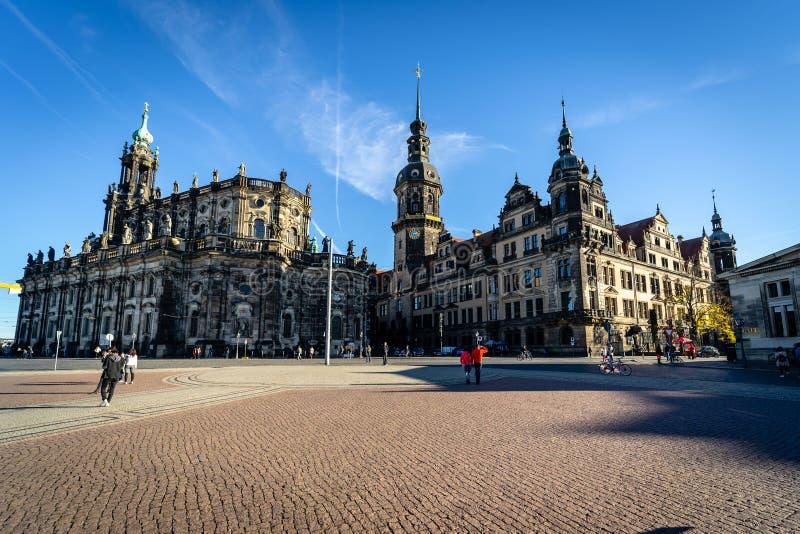 dresden De hoofdstad van de Vrije Staat van Saksen in Duitsland royalty-vrije stock fotografie