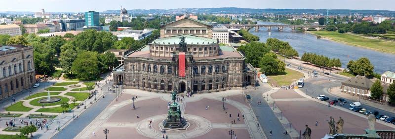 dresden domowy opery panoramy semper zdjęcia royalty free