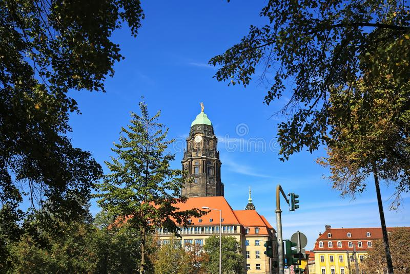Dresden is een stad in Saksen royalty-vrije stock fotografie