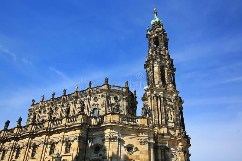 Dresden is een stad in Saksen stock afbeeldingen