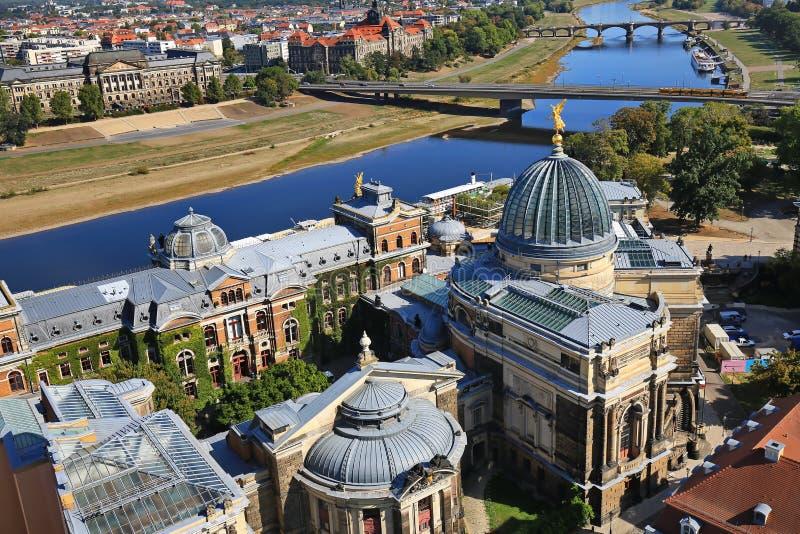 Dresden is een stad in Saksen royalty-vrije stock foto's
