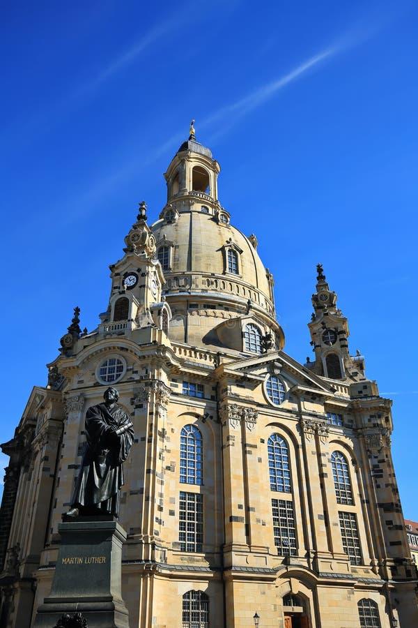 Dresden is een stad in Saksen stock afbeelding