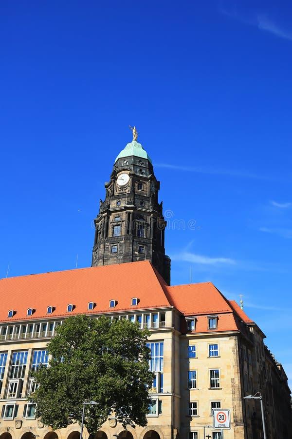 Dresden is een stad in Saksen royalty-vrije stock foto