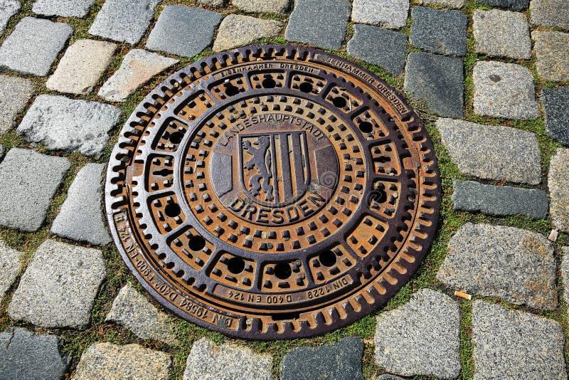 Dresden is een stad in Saksen met vele historische gezichten royalty-vrije stock foto's