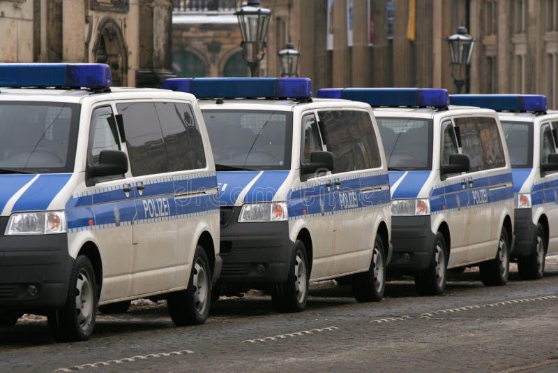 Dresden, February 13 - German police cars royalty free stock photos
