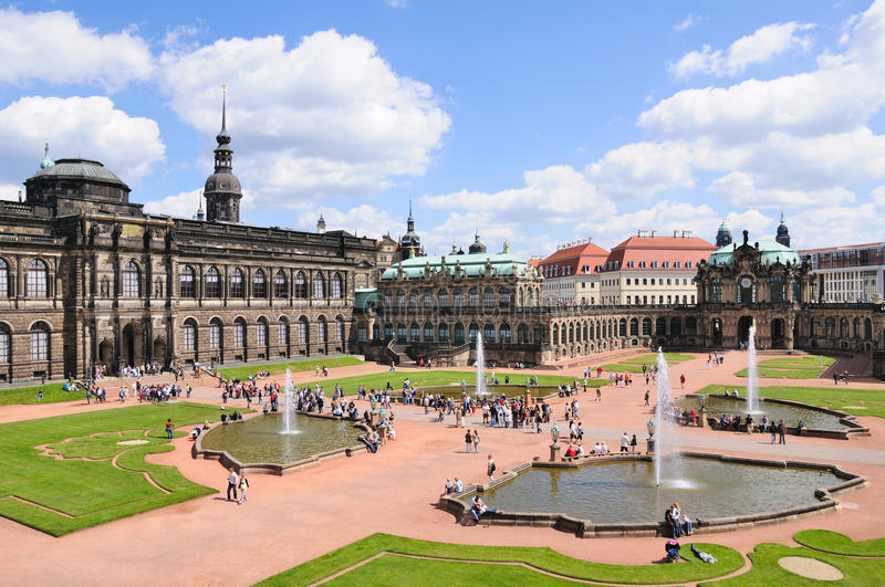 Dresden, Germany. Zwinger (A baroque palace) in Dresden, Germany royalty free stock photo