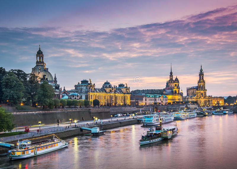 Dresden, Germany. Above the Elbe River royalty free stock photos
