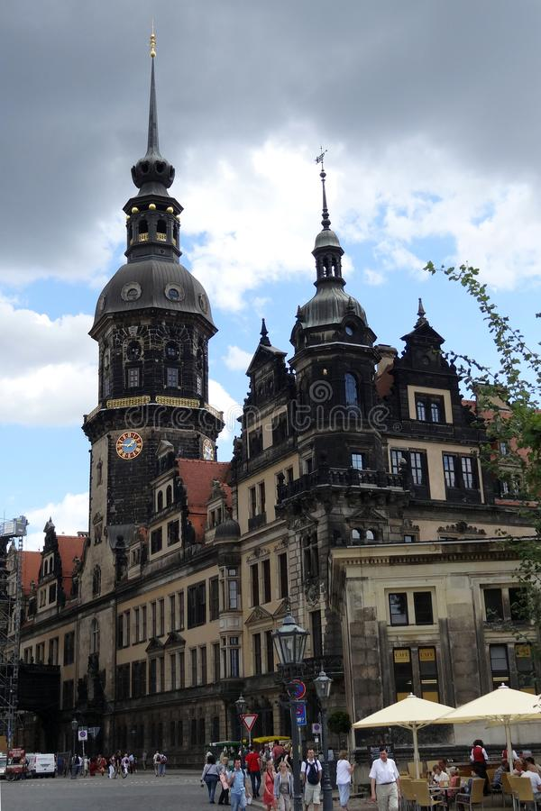 Dresden, Germany- August 7, 2012: Katholische Hofkirche in old city. stock photo