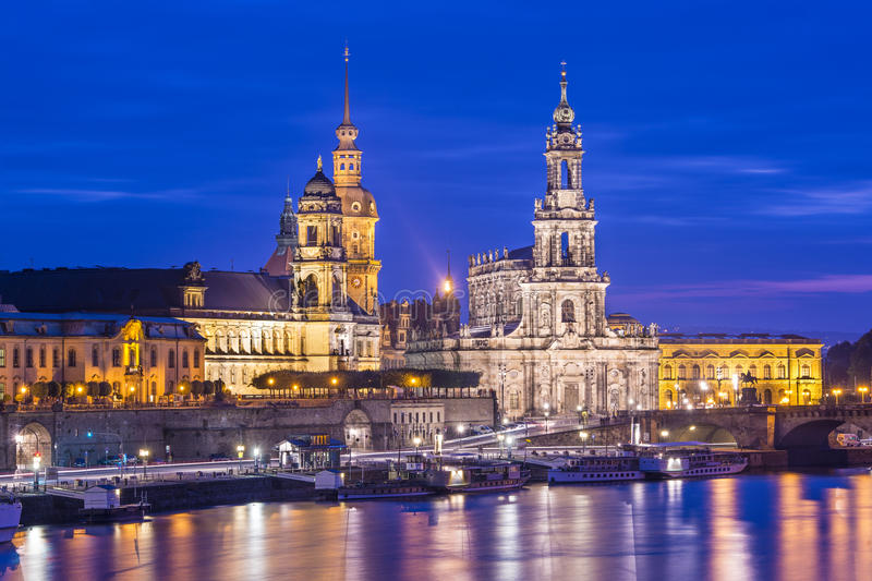 Dresden Germany. Dresden, Germany cityscape over the Elbe River stock photography