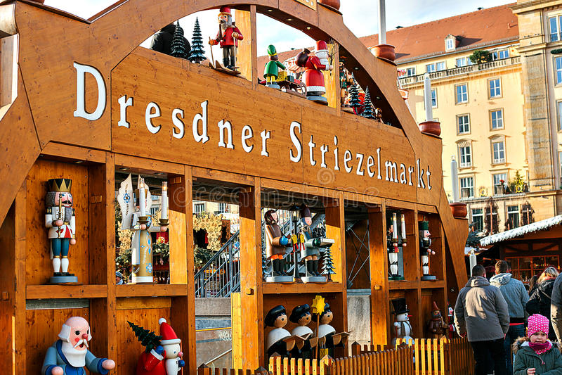 Dresden, Germany, December 19, 2016: Christmas market. Dresden, Germany. Celebrating Christmas in Europe. stock photo