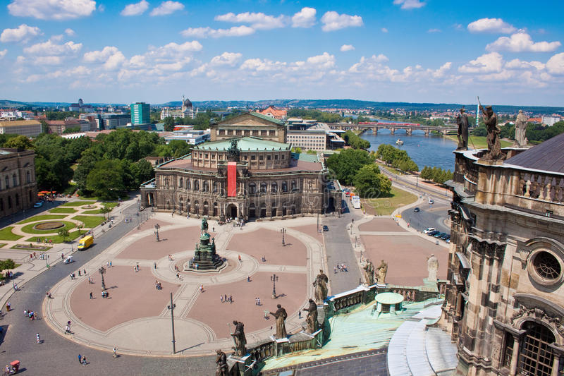 dresden Germany domowy opery semper obrazy stock