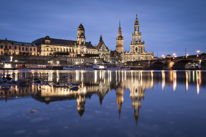 Dresden, Germany. On the Elbe River royalty free stock image