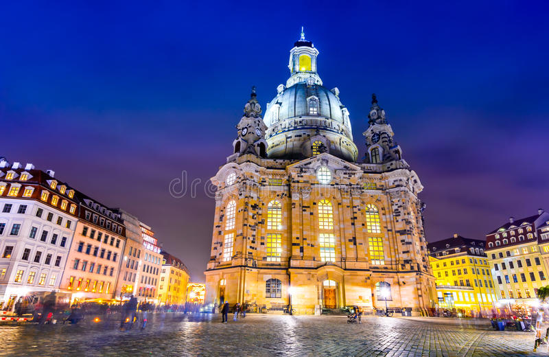 Dresden, Germany - Frauenkirche. Dresden, Germany. Frauenkirche, city of Dresda, historical and cultural center of Free State of Saxony in Europe royalty free stock images