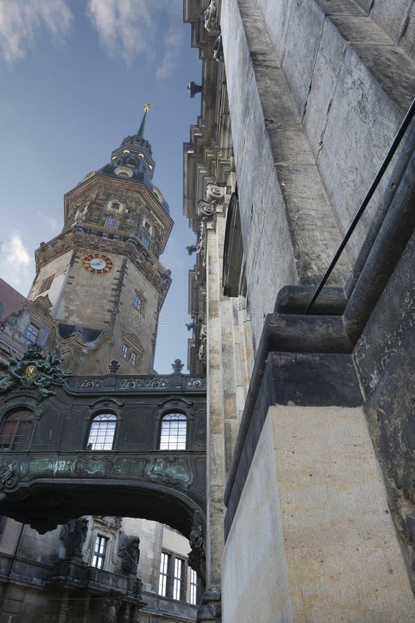 dresden germany hofkirche royaltyfri foto