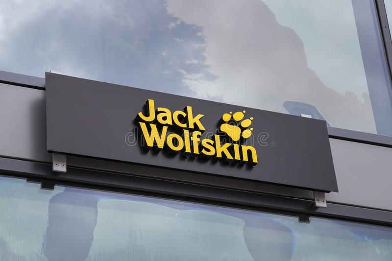 Jack Wolfskin store exterior royalty free stock photo