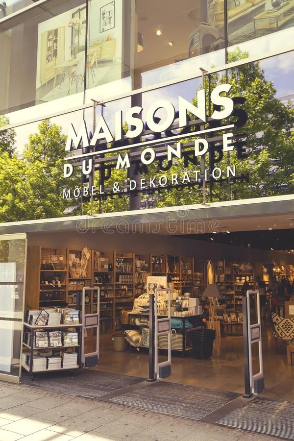 Maisons Du Monde Store Exterior Editorial Stock Image - Image of ...
