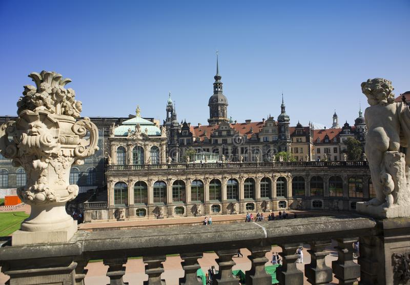 DRESDEN, GERMANY - SEPTEMBER 17, 2014: Zwinger palace, XVIII century - famous historic building stock photos