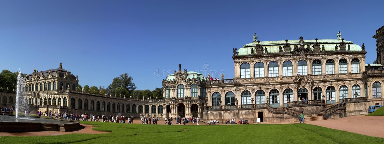 DRESDEN, GERMANY - SEPTEMBER 17: Zwinger palace, XVIII century - famous historic building on September 17, 2014 in Dresden royalty free stock photography