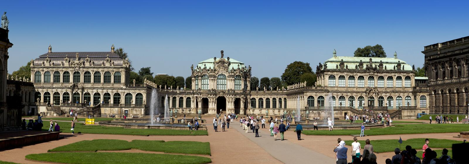 DRESDEN, GERMANY - SEPTEMBER 17: Zwinger palace, XVIII century - famous historic building on September 17, 2014 in Dresden royalty free stock photos
