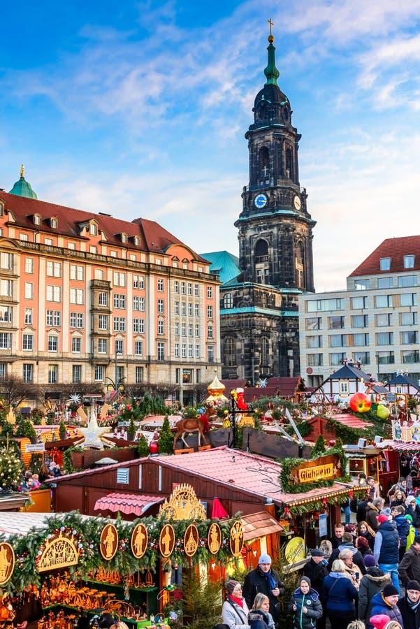 Dresden, Germany - Striezelmarkt on Christmas stock image