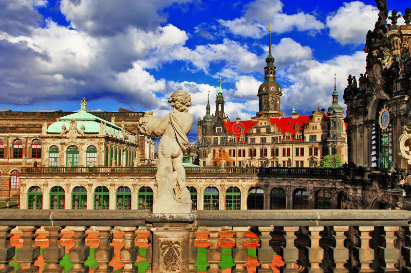 Dresden, Germany,. View from Zwinger museum royalty free stock image