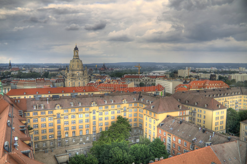 Download Dresden in HDR stock photo. Image of high, germany, clouds - 5879466