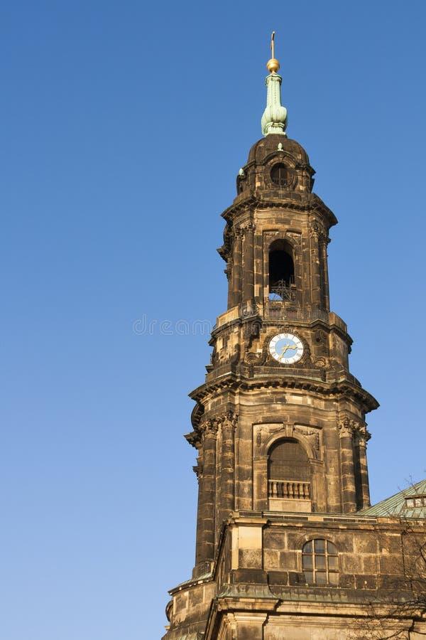 Dresden Kreuzkirche royalty free stock image