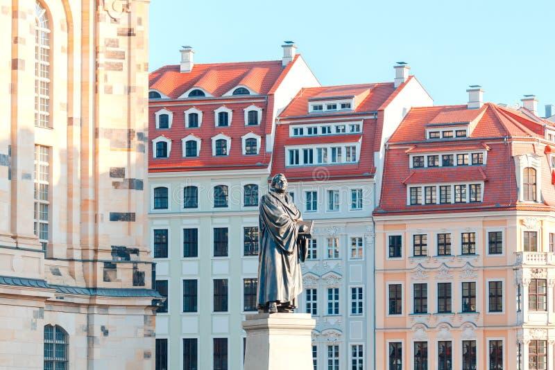dresden Monument aan Martin Luther royalty-vrije stock fotografie