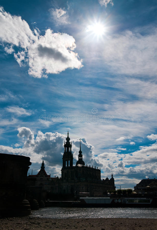 Download Dresden Old Town In Counterlight Stock Image - Image: 26379891