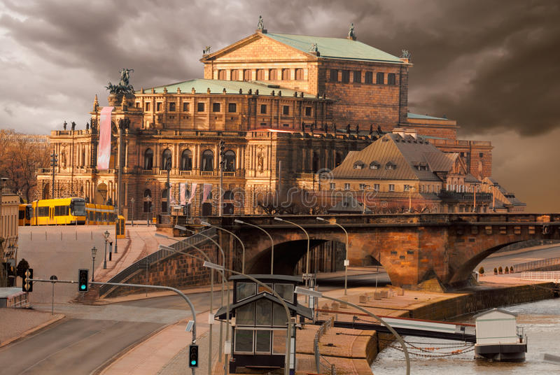 Download Dresden Opera House stock image. Image of horizontal - 20450801