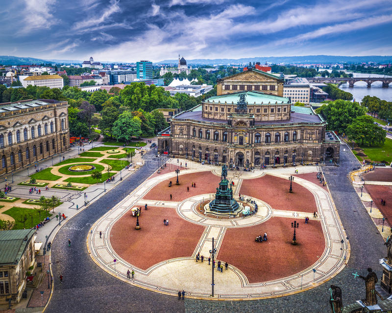 Dresden Opera House royalty free stock photo
