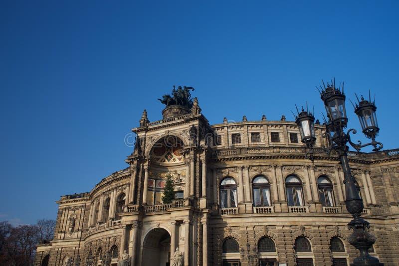 Dresden-Opernhaus Semperoper stockbild