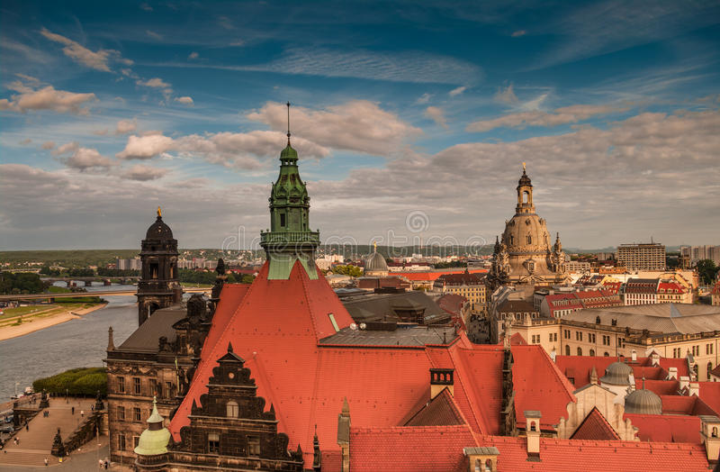 Dresden from the roof, Dresden, Germany. 2013 stock photo