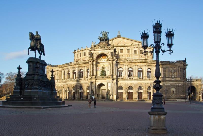 Dresden, Semper-Oper stockfotografie
