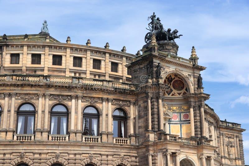 Dresden Semperoper imagens de stock royalty free
