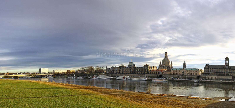 Dresden stad, Tyskland arkivbild