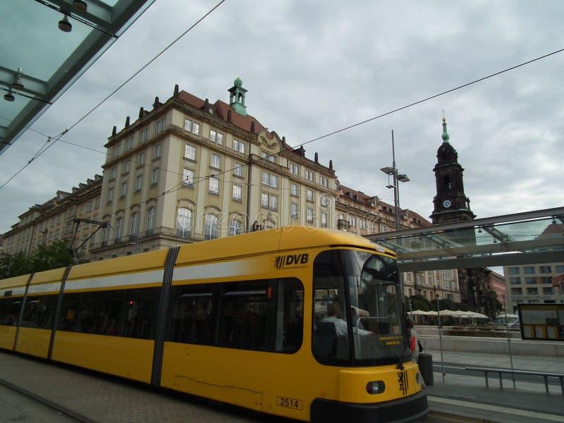 Dresden-Tram stockbilder