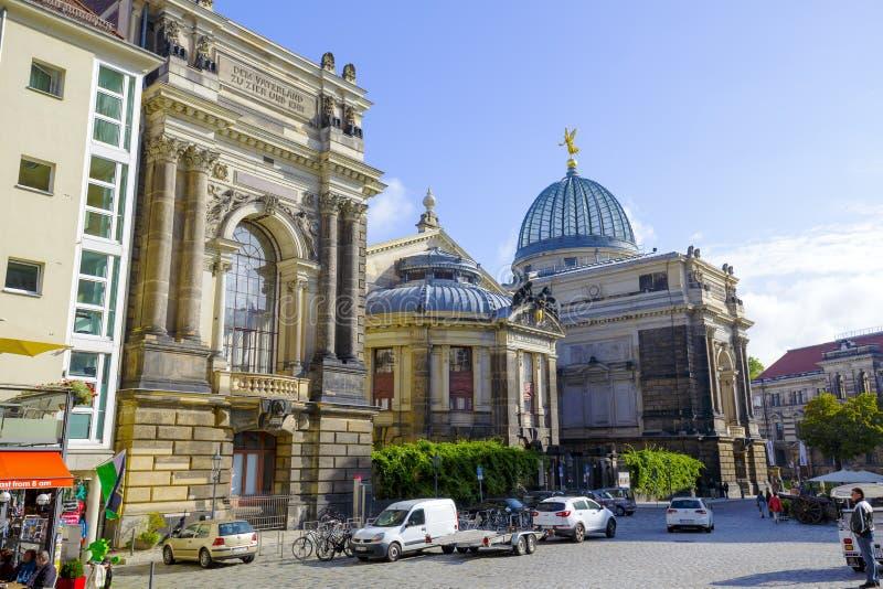 Dresden Tyskland, akademi av konster arkivfoto