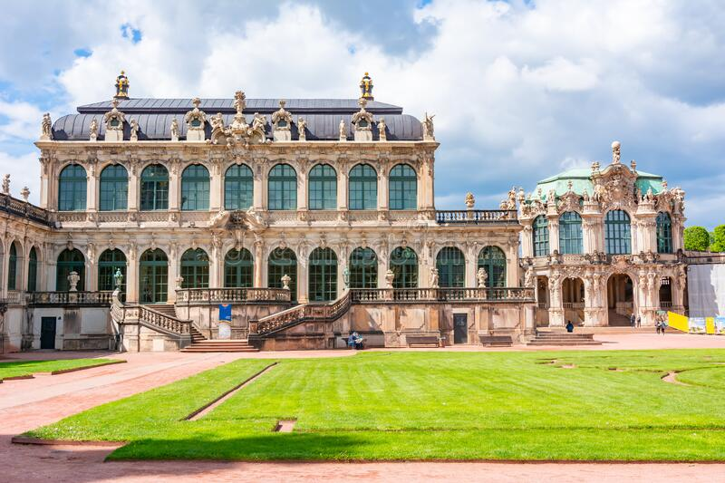 Dresdner Zwinger architecture in Dresden, Germany royalty free stock photo