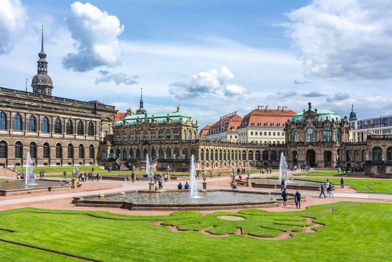 Dresdner Zwinger en Dresden, Alemania foto de archivo