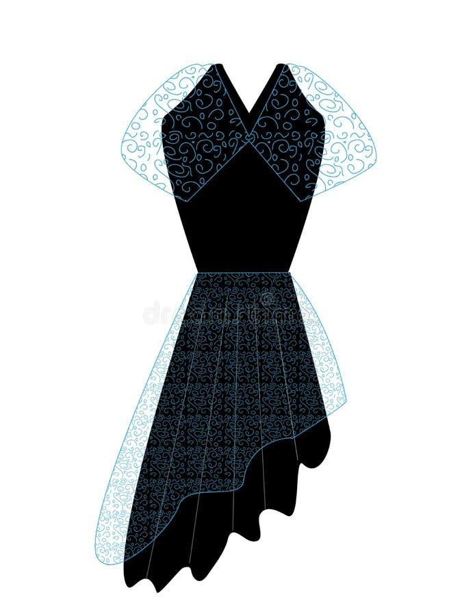 Dress2传染媒介 免版税图库摄影