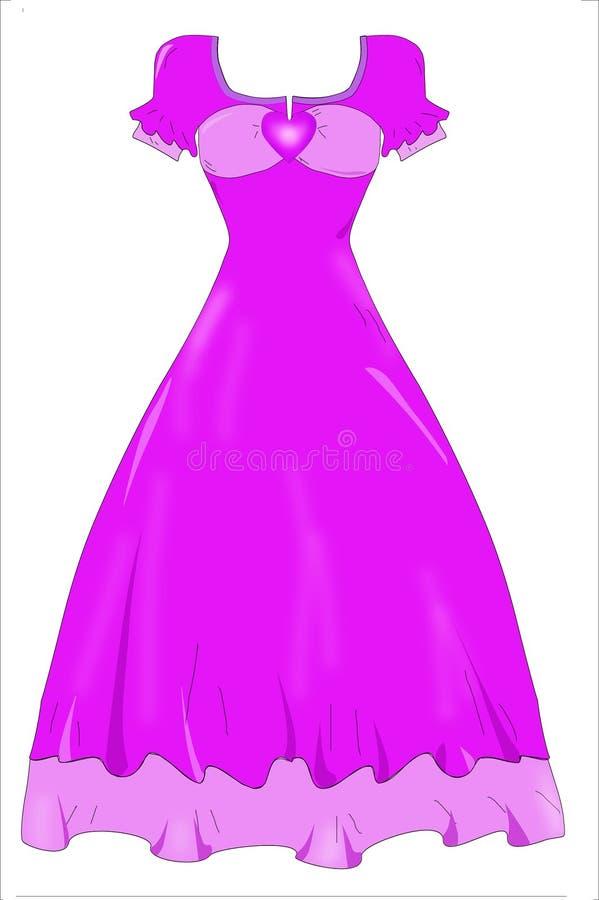 Dress. A set of dress, work on photoshop stock illustration