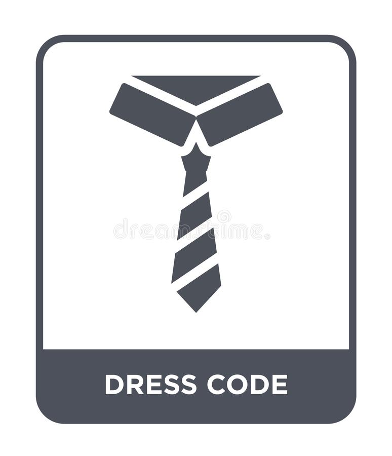 Dress code icon in trendy design style. dress code icon isolated on white background. dress code vector icon simple and modern. Flat symbol for web site, mobile royalty free illustration