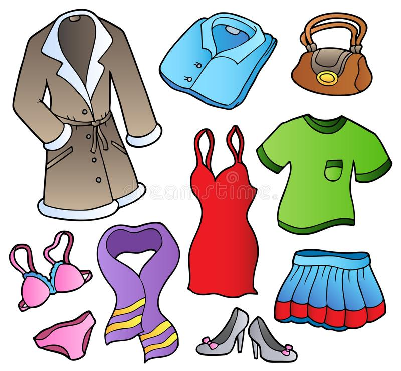 Download Dress collection 1 stock vector. Image of coating, clipart - 17468412