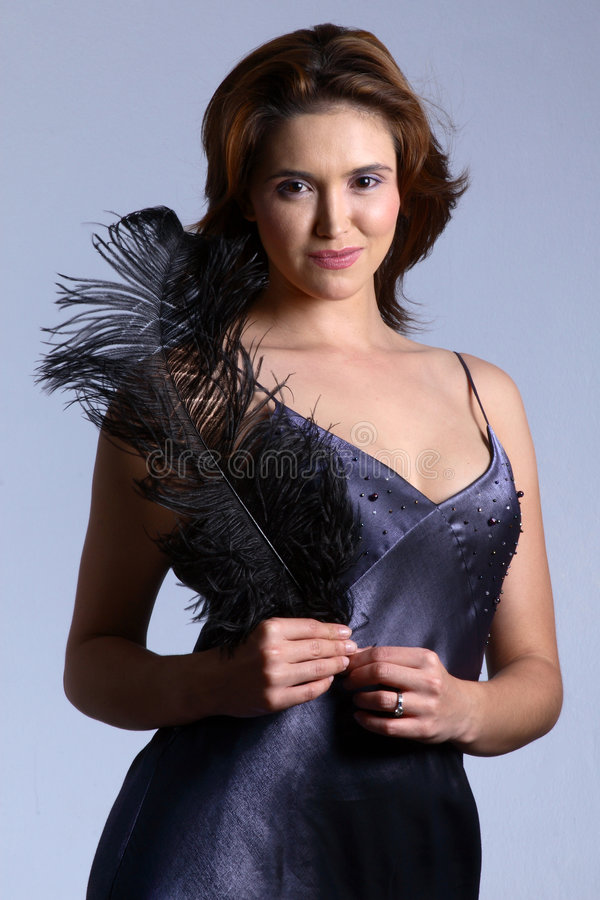 Dress And Feather Royalty Free Stock Images