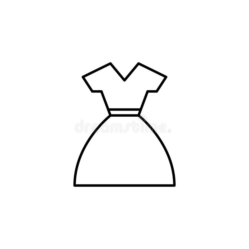 dress icon. Element of clothes icon for mobile concept and web apps. Thin line dress icon can be used for web and mobile vector illustration