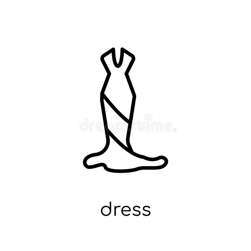 Dress icon from collection. royalty free illustration