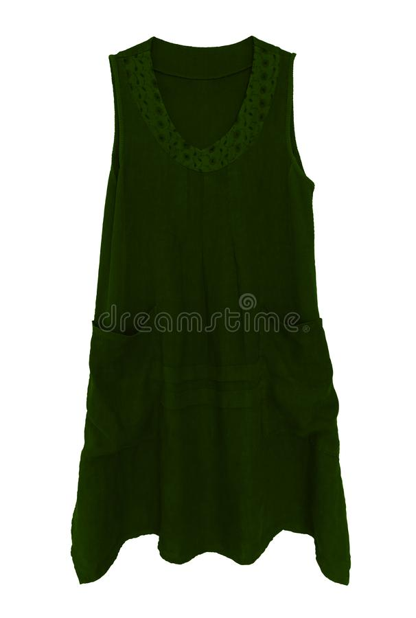 Dress isolated on white - green stock image