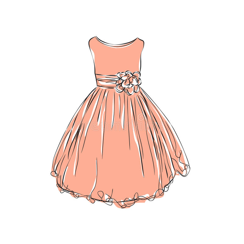 Dress for little girls. royalty free stock photos