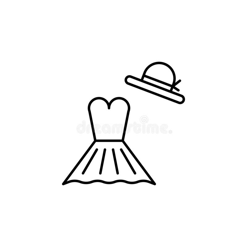 dress outline icon. Element of lifestyle illustration icon. Premium quality graphic design. Signs and symbol collection icon for vector illustration